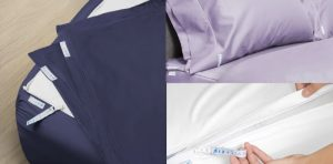 QuickZip Fitted Sheet Percale